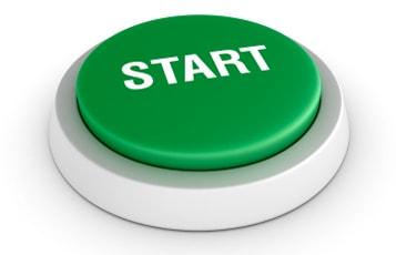color green START button
