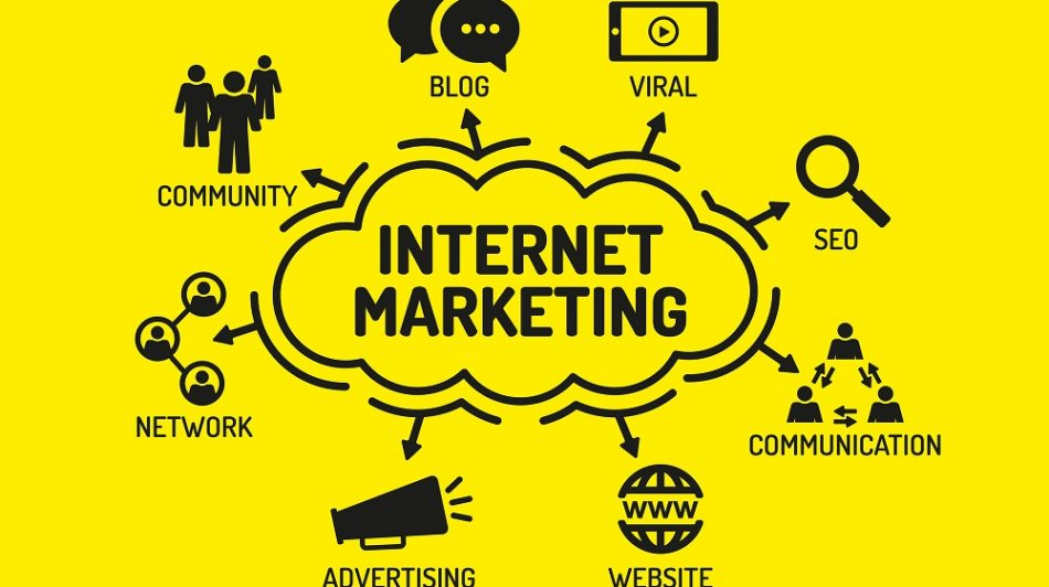 Chart with keywords internet marketing and icons - The Ad Firm