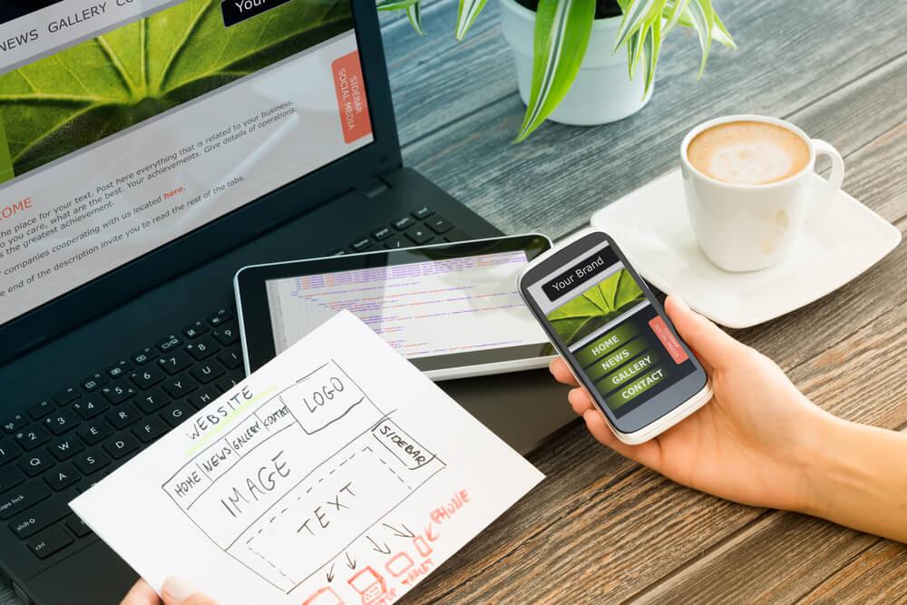 Web Design, Phone & Laptop
