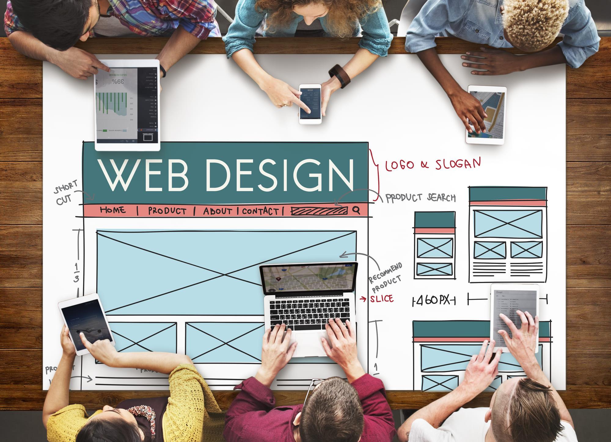 web designing team planning